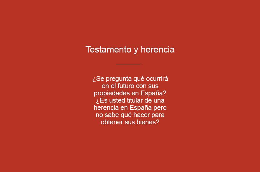 Testamento y herencia