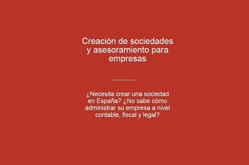 Creación de sociedades