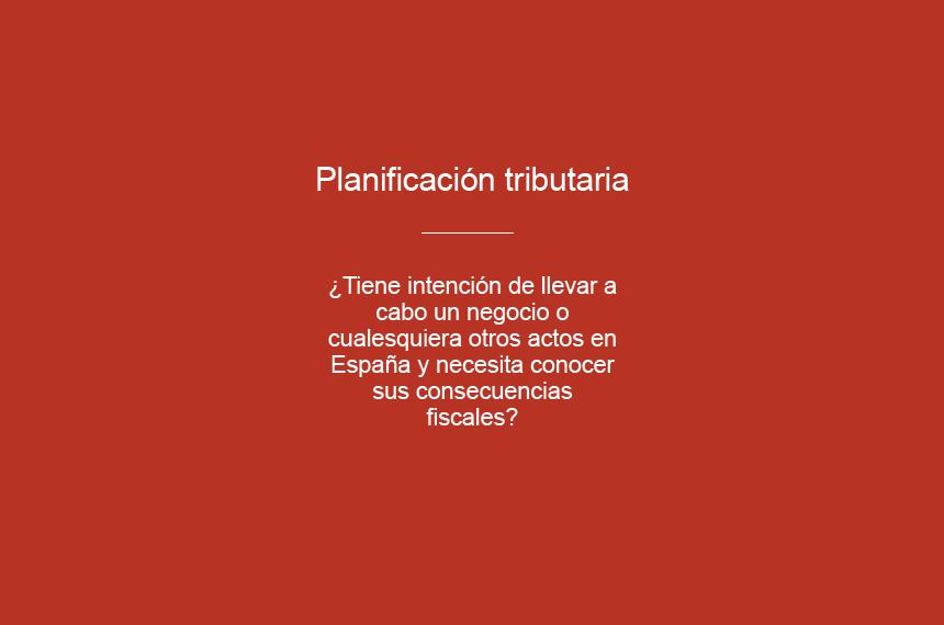 Planificación tributaria