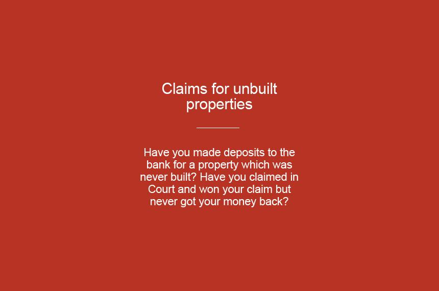 claims-for-unbuilt-properties